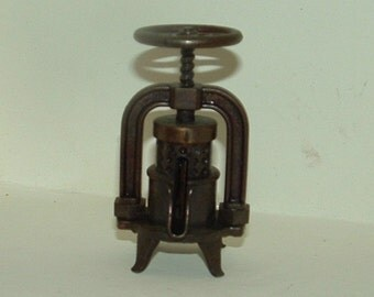 Miniature Fruit Press metal Pencil Sharpener with Copper Finish made in Spain