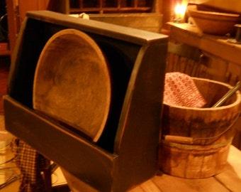 Primitive bowl bin,wooden, home, kitchen, decor