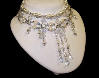 Bridal Jewelry, Pearl Necklace, Chunky Pearl Necklace Bridal, Bridal Pearl Jewelry, Chunky Wedding Necklace, Wedding Pearl Necklace