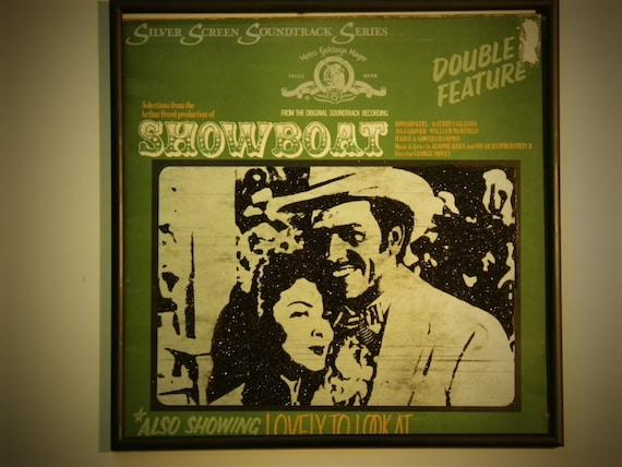 Glittered Record Album - Showboat Soundtrack