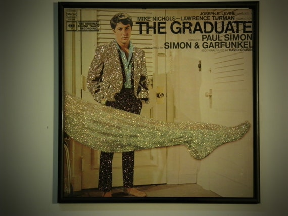 Glittered Record Album - The Graduate Soundtrack