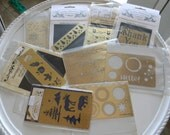 Embossing Templates lot of 9