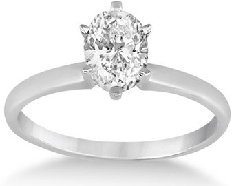 Oval Diamond Solitaire Engagement Ring Setting 18k Gold