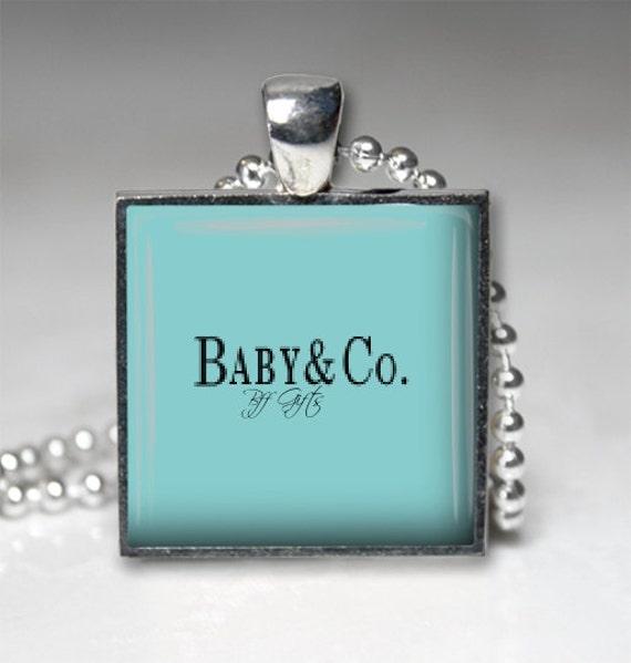 Handmade baby cotiffany style pendant by handmadebymaryanne for New mom jewelry tiffany