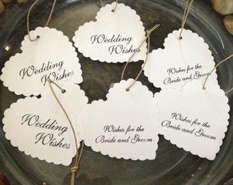 Wedding Wishing Tags -Set of 50