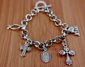 Christian Toggle Clasp Bracelet FREE SHIPPING USA