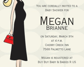 Contemporary Baby Shower Invitation