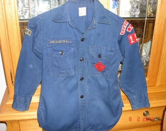Vintage Cub Scout Uniform Shirt From The 1960's - Vintage Boy Scout Memorabilia - Cub Scout Shirt - Boy Scout Shirt