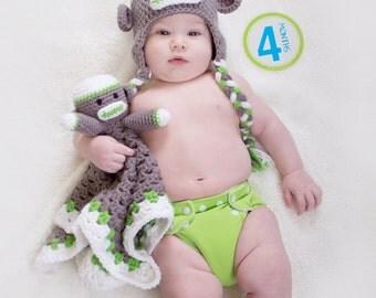 Adorable Monkey Lovie Blanket