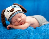 Baby Boy Hat Puppy Hat