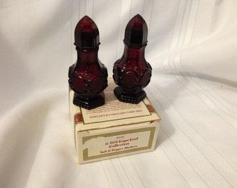 1876 Avon Cape Cod Collection Salt and Pepper Shaker Set Vintage