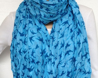 big  voile swallow scarf women spring scarf