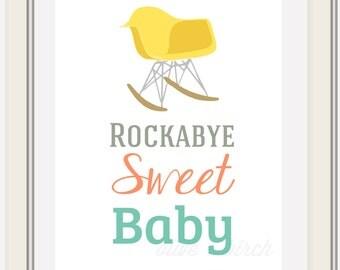 Custom Rockabye Baby Eames Rocking Chair Printable