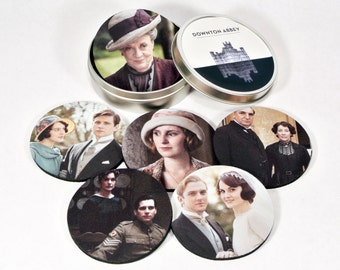 Downton Abbey Awesome Coaster Set six different ones Everyone is still alive on these FOREVER