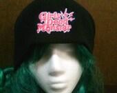 Anime and manga inspired Girls Dead Monster Angel Beats embroidered beanie skull cap