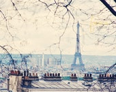 Eiffel Tower from Montmartre 11x14 Photo Print, Paris France Photography