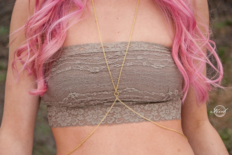 Gold Body Jewelry Body Chain Simple Gold Body