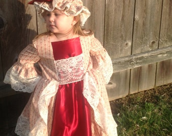 Colonial Dress with Mop Hat Costume (GG0200)