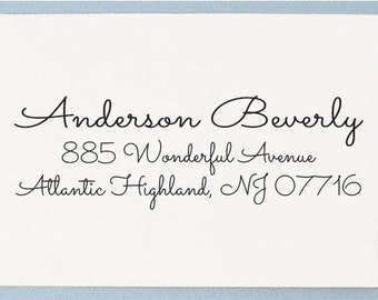 Calligraphy Custom Address Stamp - Personalized Address Stamp - AS28