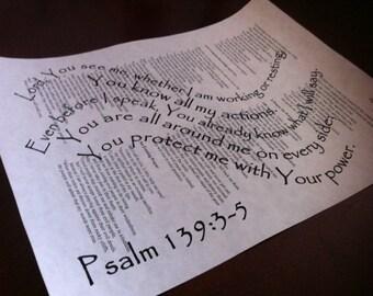 Psalm 139:3-5 Wave Bible Scripture