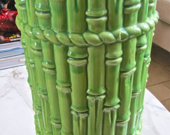 Classic Palm Beach Faux Bamboo Ceramic Umbrella Stand