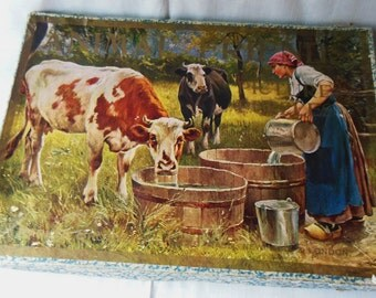 1901 Parker Bros. Animal Friends Picture Puzzle Original Box