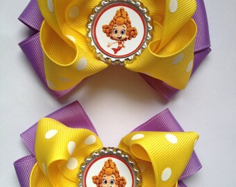 Bubble guppies  hair bow set