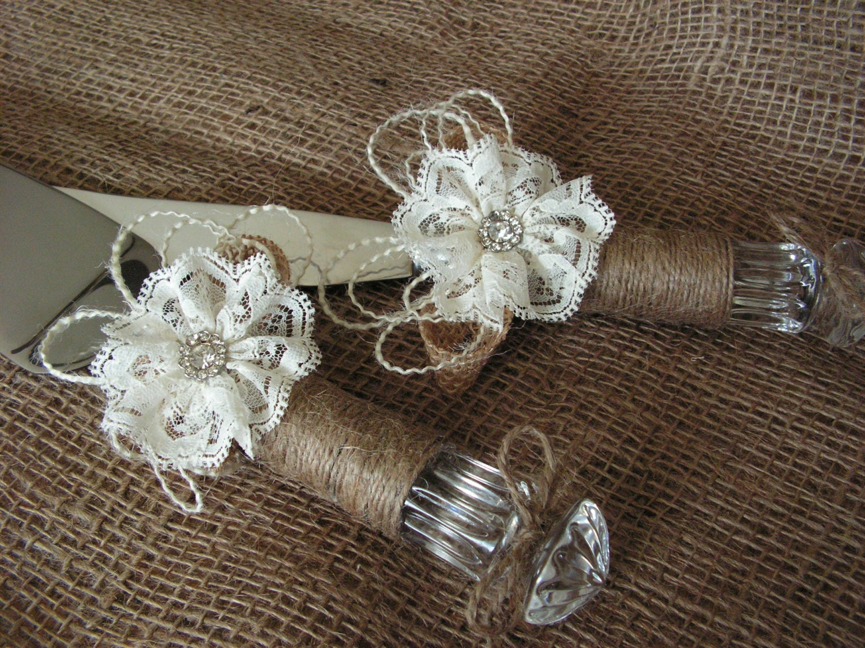 rustic wedding cake knife burlap and lace wedding cake cutting. Black Bedroom Furniture Sets. Home Design Ideas