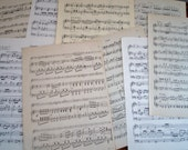 """Vintage Antique Sheet Music Paper 20 Full Size 9""""x 12"""" Pages"""