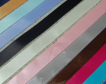 10 yds 5/8 inch satin double faced ribbon.
