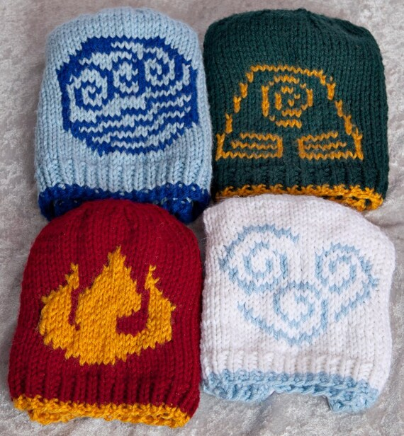 Avatar The Last Airbender Four Bending Nations Knit Hats