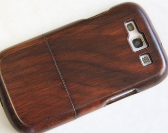Samsung Galaxy S3 wood phone case Hand-finished brown case SALE