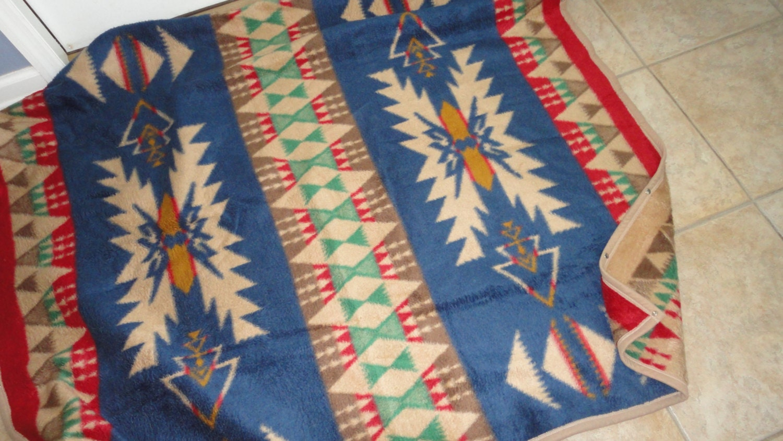 vintage biederlack tribal blanket throw made usa cumberland
