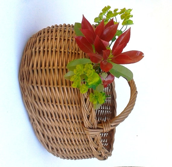 Woven Shopping Basket Uk : Genuine french ping basket authentic antique vintage