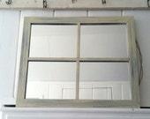 handpainted shabby chic window-framed mirror