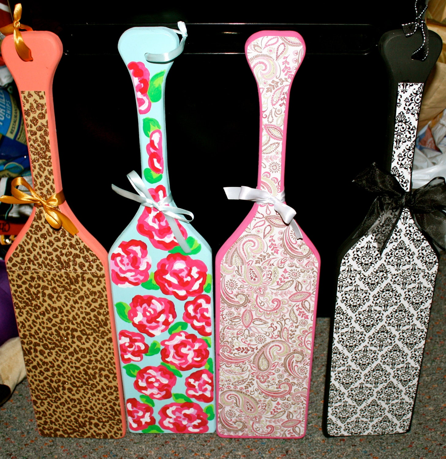 design your own custom hand painted sorority paddle