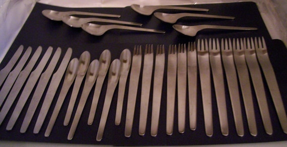 Arne jacobsen stainless flatware by a michelsen denmark - Arne jacobsen flatware ...