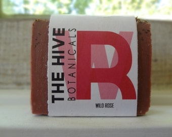 Wild Rose Soap Natural Soap, Vegan Soap, Handmade Soap, Detox Soap, Cold Process Soap, Organic Soap