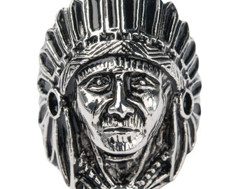 Indian Chief Ring - Tribal
