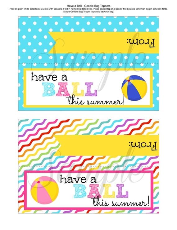 It is a photo of Amazing Have a Ball This Summer Printable