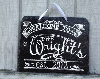MADE TO ORDER - Family Welcome Sign