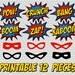 PRINTABLE Superhero Photo Booth, Party, Comic Sound Effect, Pop Art, Retro, DIY, Print it Yourself