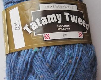 Tatamy Tweed DK yarn Sea Blue 1614