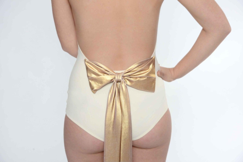 Items Similar To Bridal Swimsuit -Custom Made White