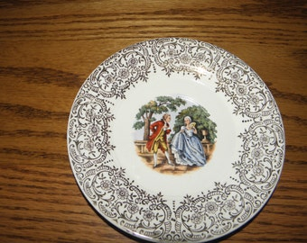 Set of 8 Colonial Couple Saucers Sebring