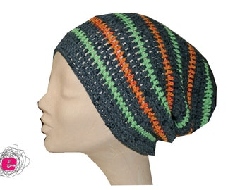 Beanie, crocheted hat,
