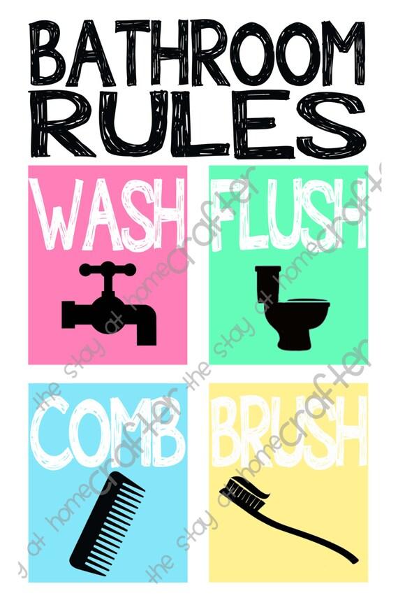 Bathroom rules printables