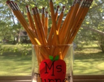 Personalized Teacher Gift Pencil Holder