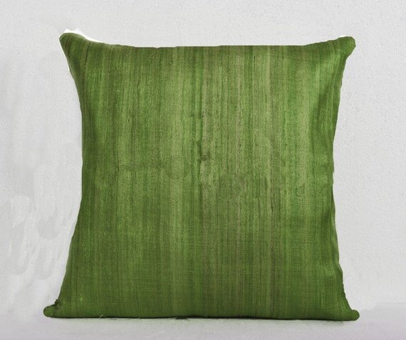 Green Silk Throw Pillow : Green silk pillows silk cushion Throw pillows Cushion cover