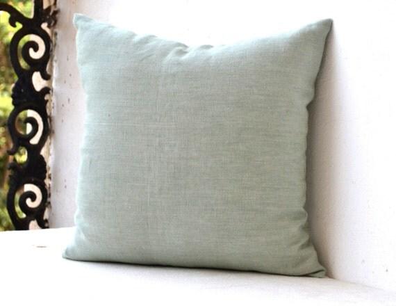 Light Green Decorative Pillow : Light Green Linen Pillow Decorative pillow Linen Cushion